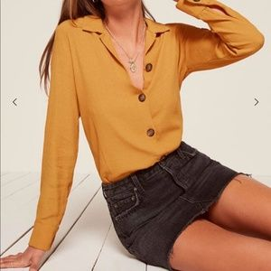 Reformation Jade Button Down Blouse